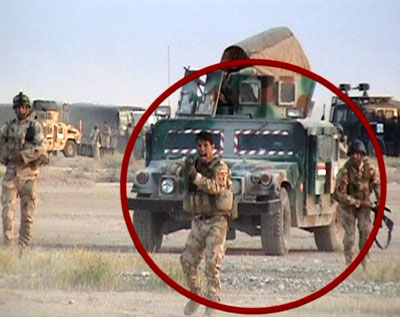 File photo from April 2011 attack on Camp Ashraf by Iraqi forces with US equipment