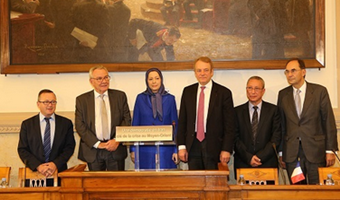 Maryam Rajavi in FRENCH NATIONAL ASSEMBLY CONFERENCE
