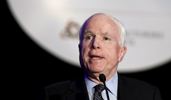 Sen McCain urges US protection for Camp Liberty residents