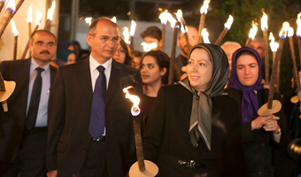Iranian dissidents mourn death at Camp Liberty