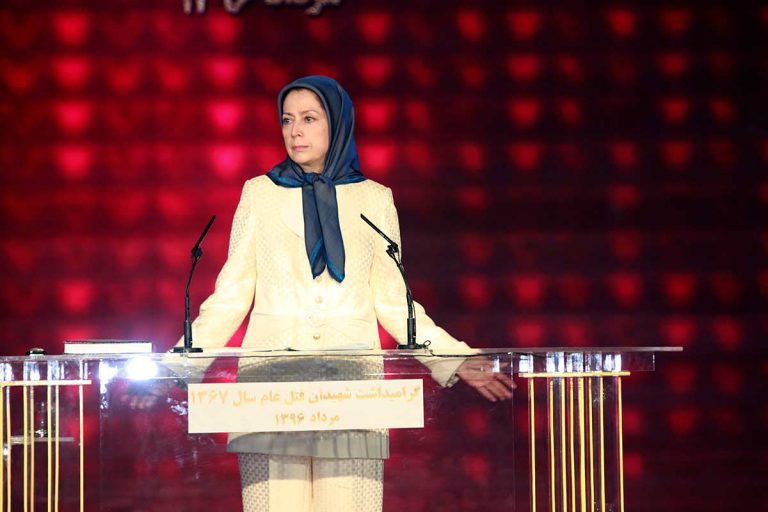 Rajavi Vows to Fight for Justice for Victims of 1988 Iranian Massacre