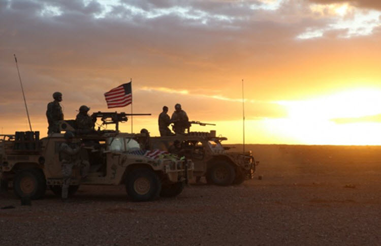 The US's military base near to southern Syria's al-Tanf border crossing