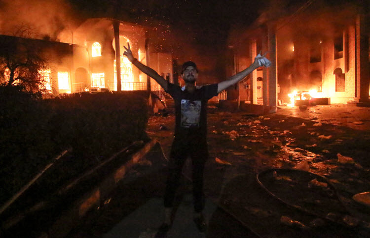 Protesters in Basra set fire to Iranian consulate