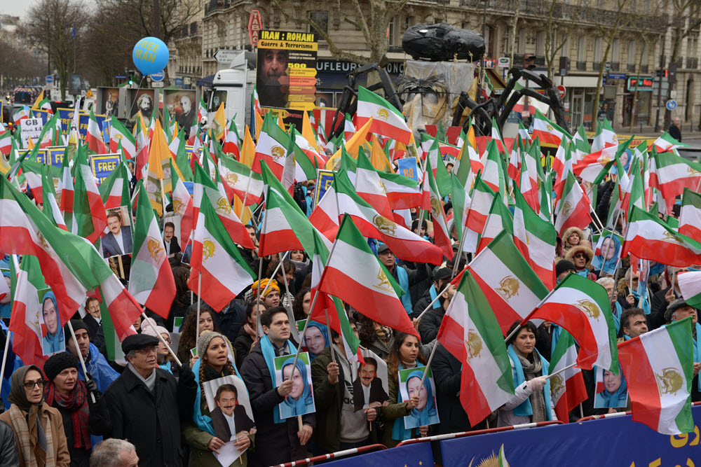 Iranian in Paris Call for Regime Change in Large Rally Marking 40th Anniversary of Revolution