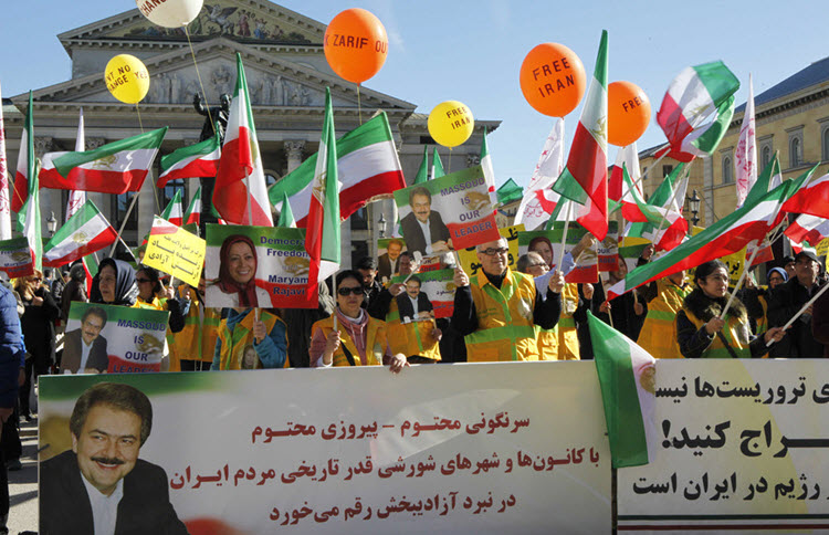 Supporters of the Iranian Resistance gathered in Germany