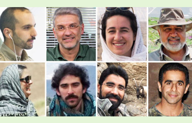 Iranian environmental activists who have been jailed since January