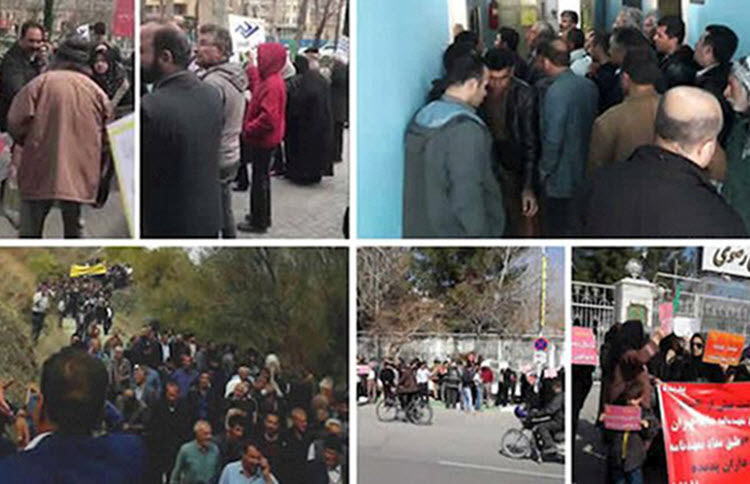 There were over 400 protests and strikes across 104 cities in Iran