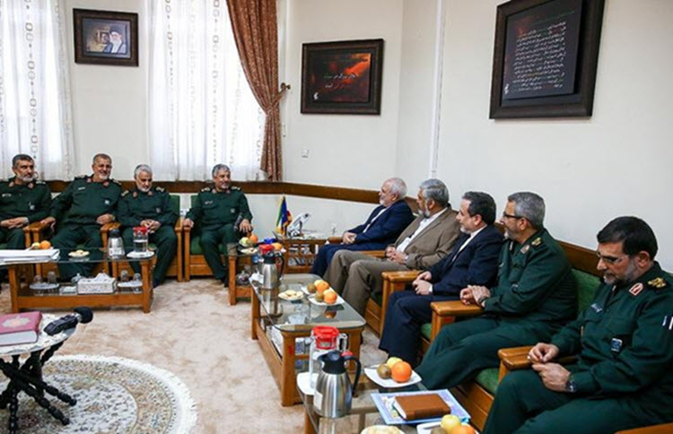 Iranian Foreign Minister Mohammad Javad Zarif and his deputies have visited the commanders of the Islamic Revolution Guards Corps