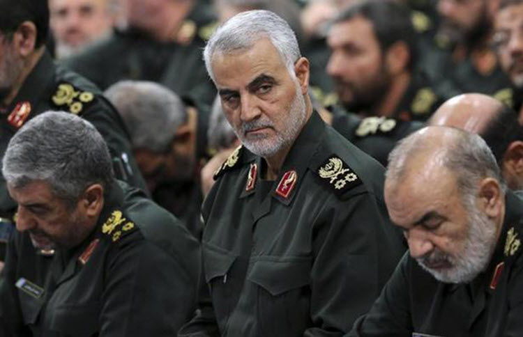 Three commanders of the Revolutionary Guards Corps