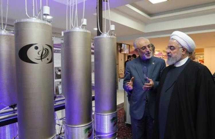 Iran's President Hassan Rouhani at a nuclear power plant