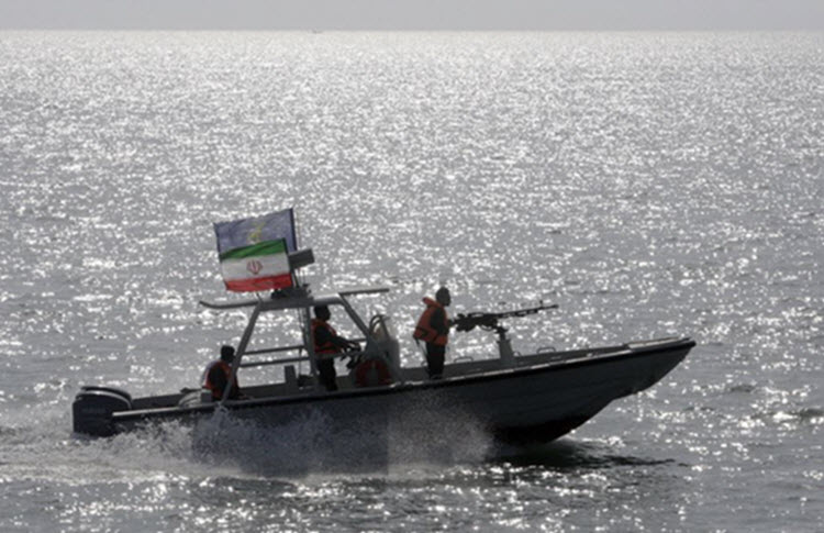 The radar boat of the Islamic Revolutionary Guard Corps in the Persian Gulf