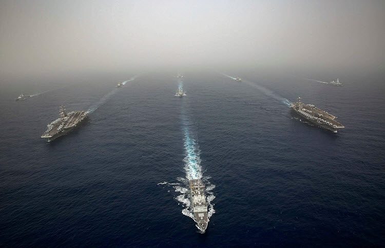 The USS Abraham Lincoln is in the Persian Gulf