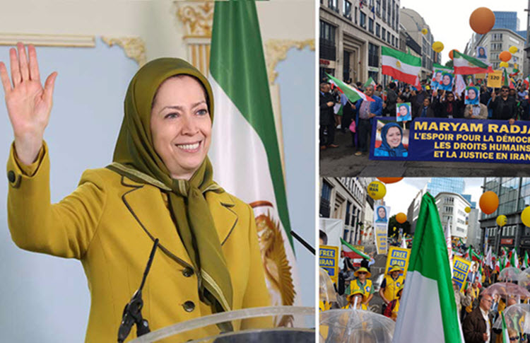 In Major Brussels Protest Maryam Rajavi Urges EU to Impose Sanctions on Iran's Regime