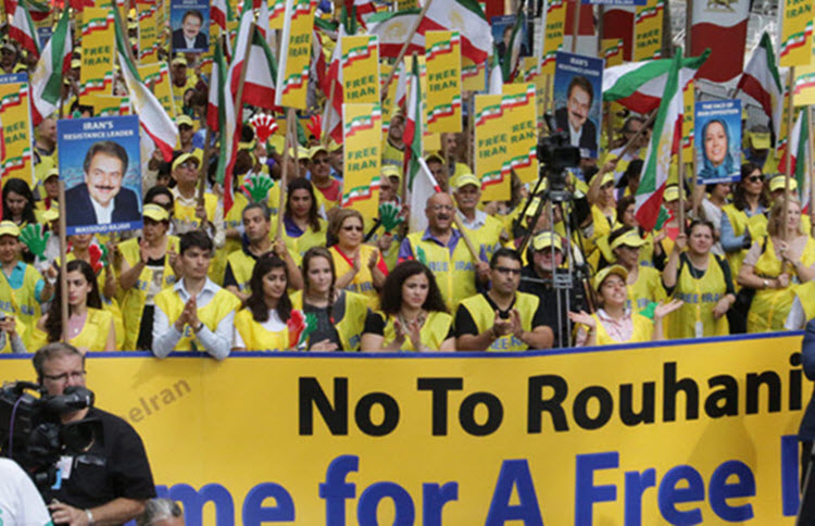 the supporters of People's Mojahedin of Iran (MEK) and National Council of Resistance of Iran (NCRI)