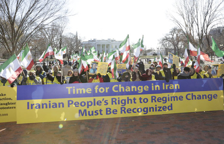 The Iranian-American communities in the U.S. OIAC, March in Washington D.C. in solidarity with Iran Protests, calling for regime change in Iran