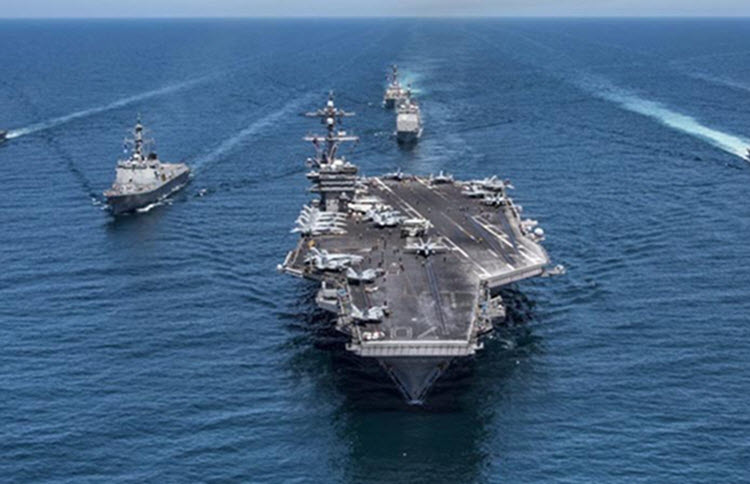 USS Abraham Lincoln in Persian Gulf