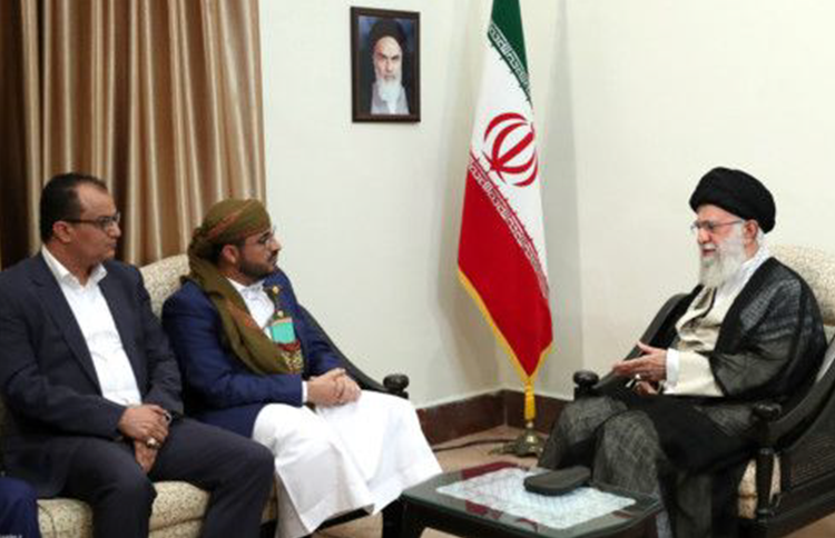 Mohammed Abdul Salam, representative for the Houthis, visited Khamenei at his Tehran residence on Tuesday