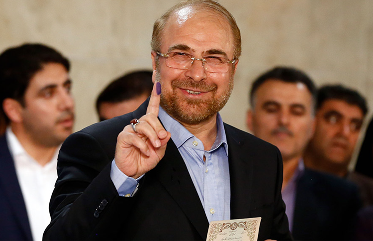 Mohammad Baqer Qalibaf, a conservative figure and former general of the notorious Islamic Revolutionary Guard Corps (IRGC)