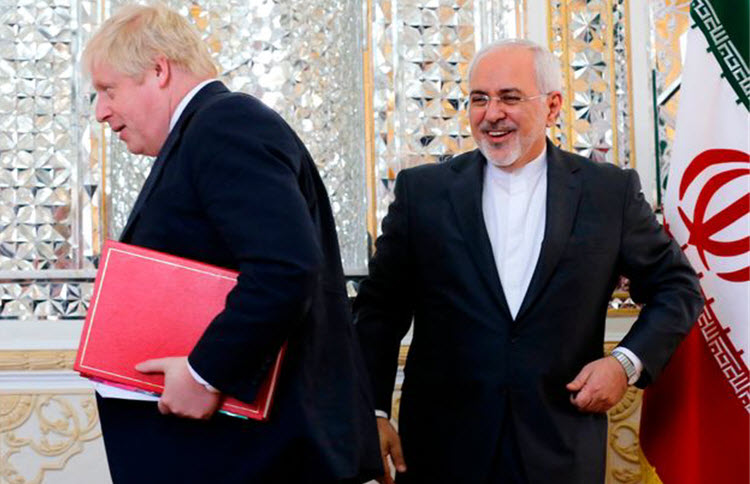 Boris Johnson and Mohammad Javad Zarif