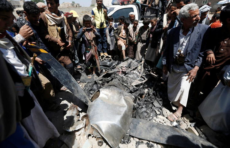 US says drone shot down by Iran-backed Houthis