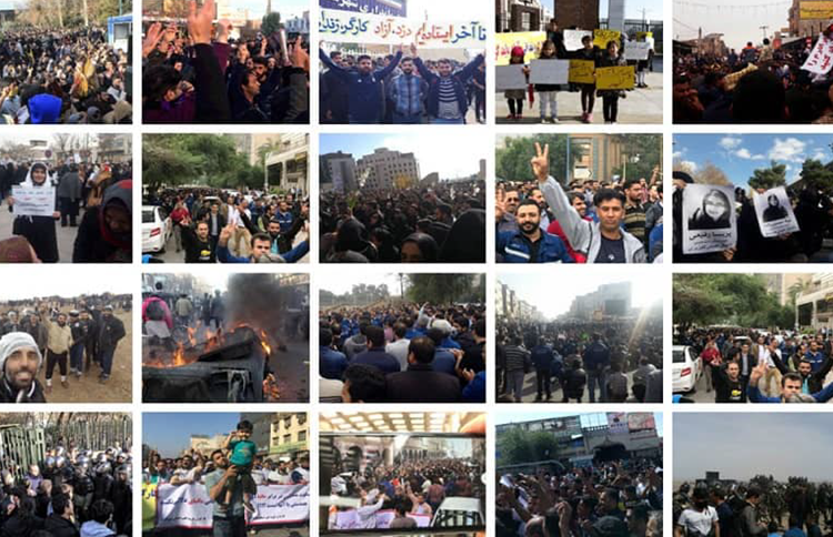 Eight protests across Iran on Tuesday and Wednesday