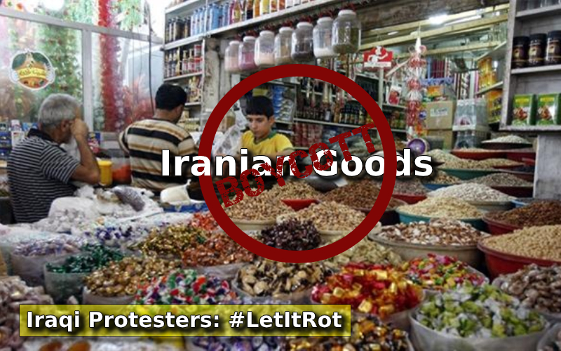 Iraqi People's Campaign to Boycott Iranian Goods in Markets
