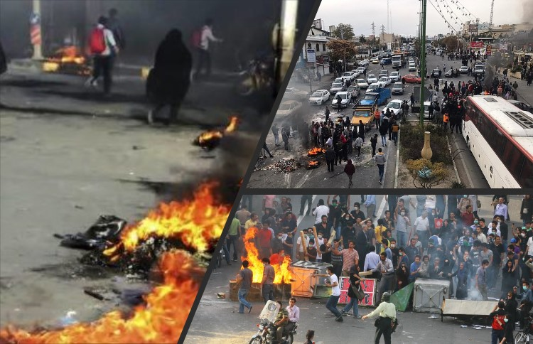 Iran protests in the suburbs areas in 2019
