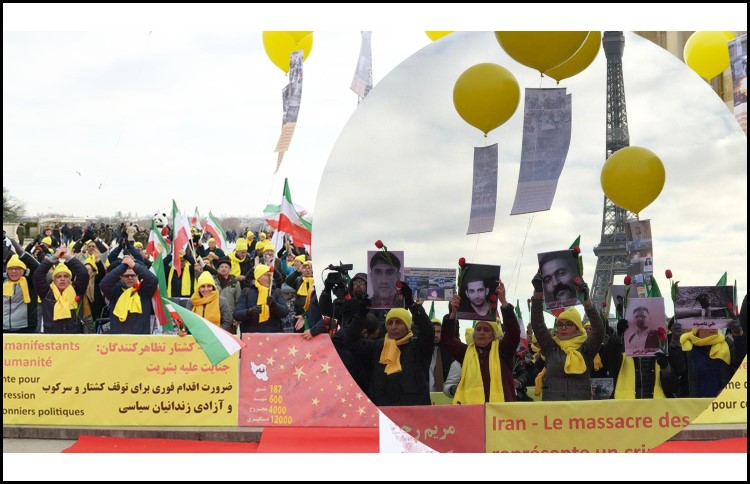 Iranians in Paris have gathered to call on the international community to put pressure on the dictatorship ruling Iran to Stop Iran Bloodshed