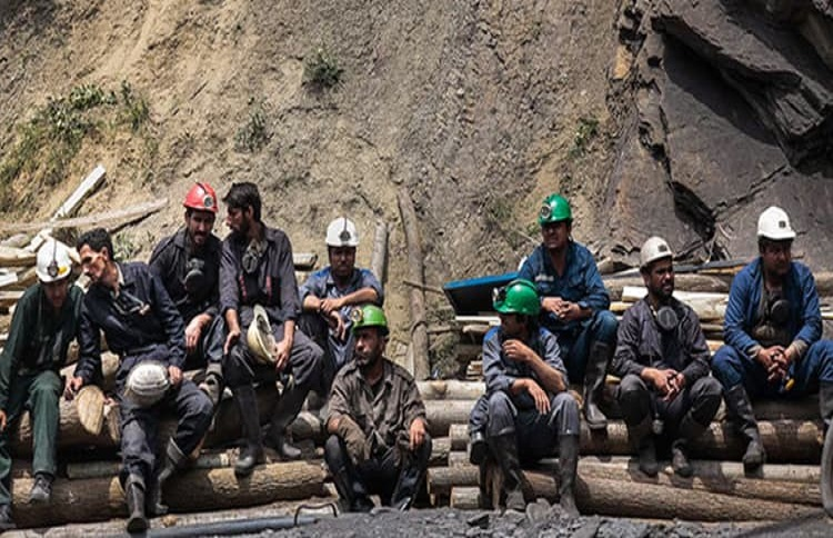 Iran's mines workers