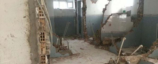 Lately destroyed Sunni mosque in Tehran by the regime
