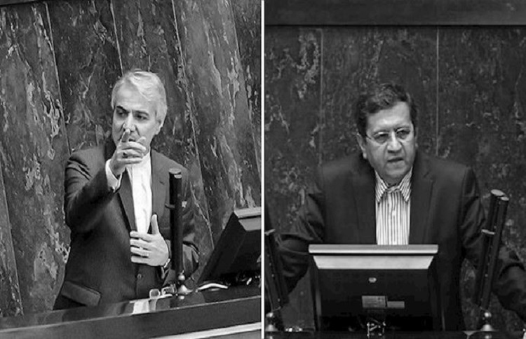 Hemmati and Nobakht in the Iranian parliament