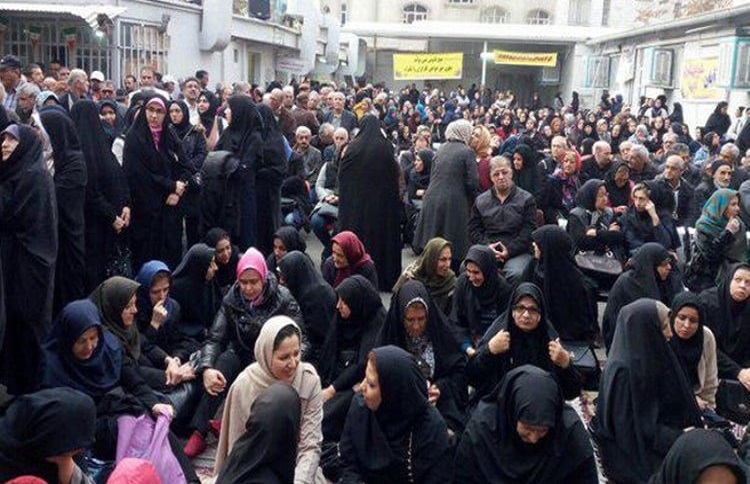 Women widely participate in workers protests across Iran (Image: Archive)