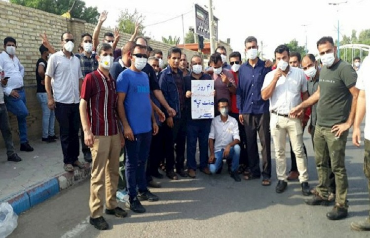 Day 41 of the Haft Tappeh sugarcane workers' strike in Iran