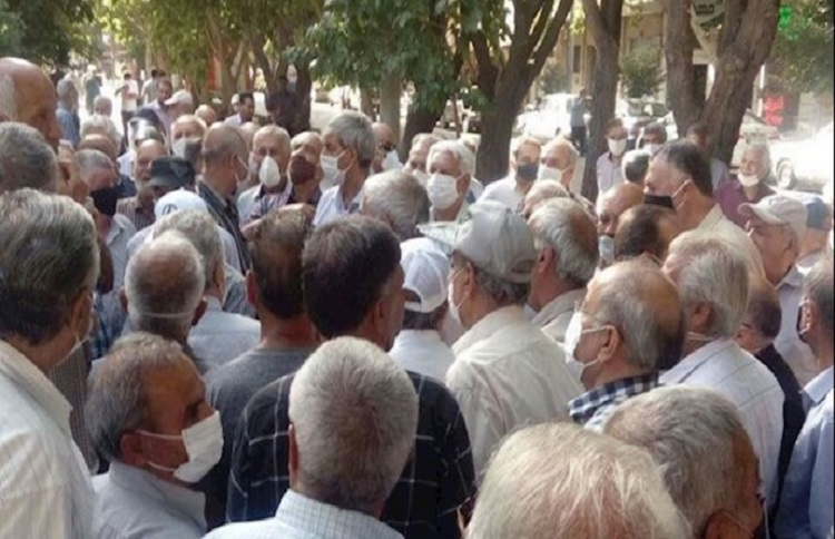 Retirees in Iran are protesting the poor conditions of their livelihood