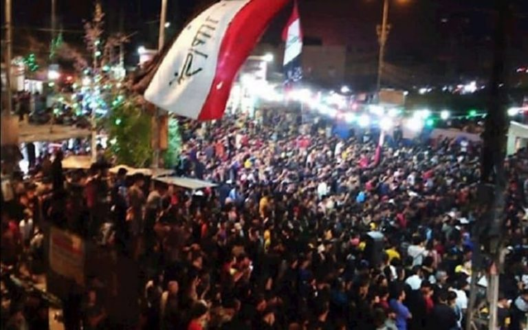 Iran-backed parties and militias try to stop Iraqi protests. However, protesters returned to the streets, chanting against Tehran's influence.