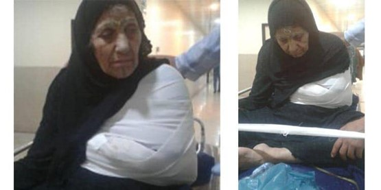 Ahmad Saedi's grandmother in the hospital